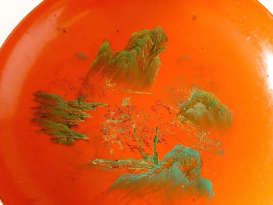 Vintage Japanese Lacquer Tea Cup Saucer and Spoon - 3