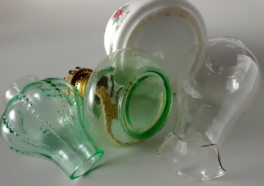 Lot of 2 Miniature Vintage Kerosene Oil Lamps - 4