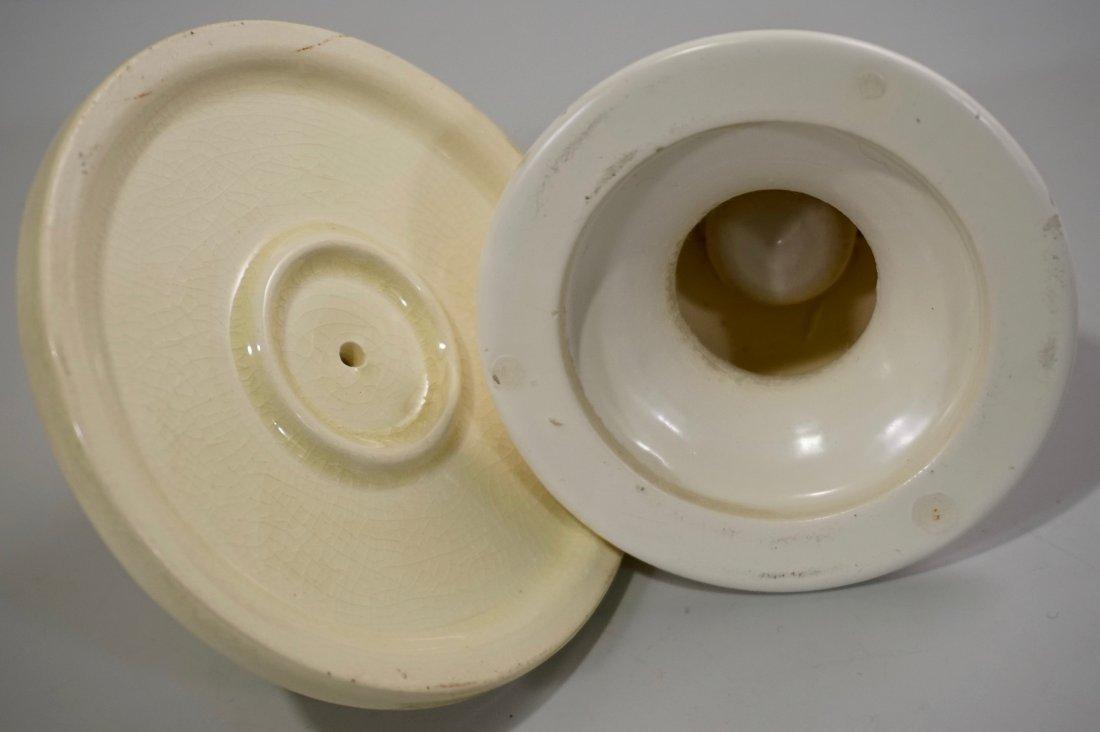 Art Deco Ceramic Candle Holders Lot of 2 Vintage Potter - 4