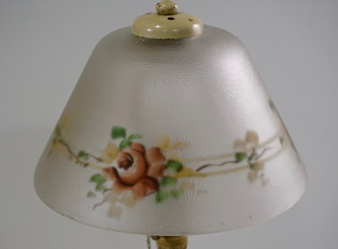 Reverse Painted Shade Art Deco Table Lamp - 2