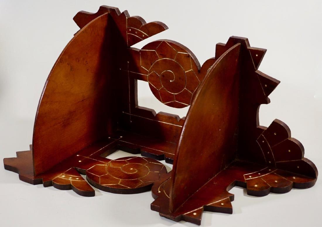 Antique Eastlake Carved Wood Corner Shelf c 1910 - 3