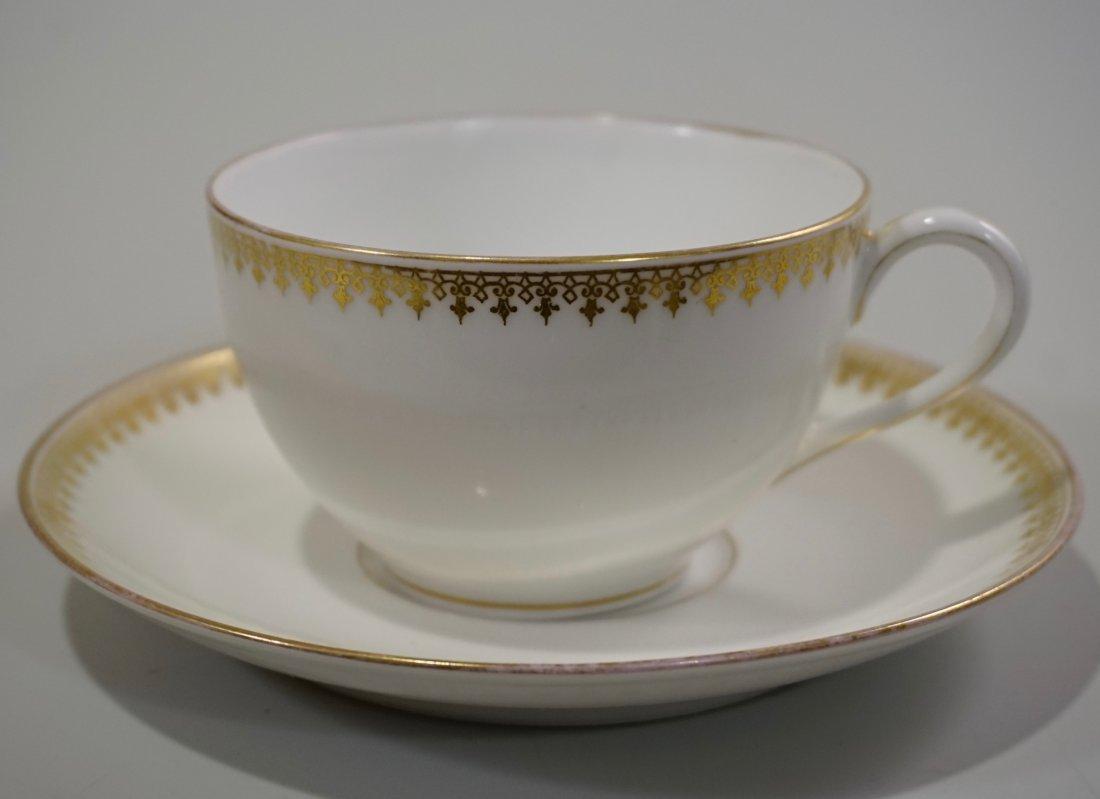 TV Limoges Porcelain France Tea Cup Saucer Set Lot of 6 - 3