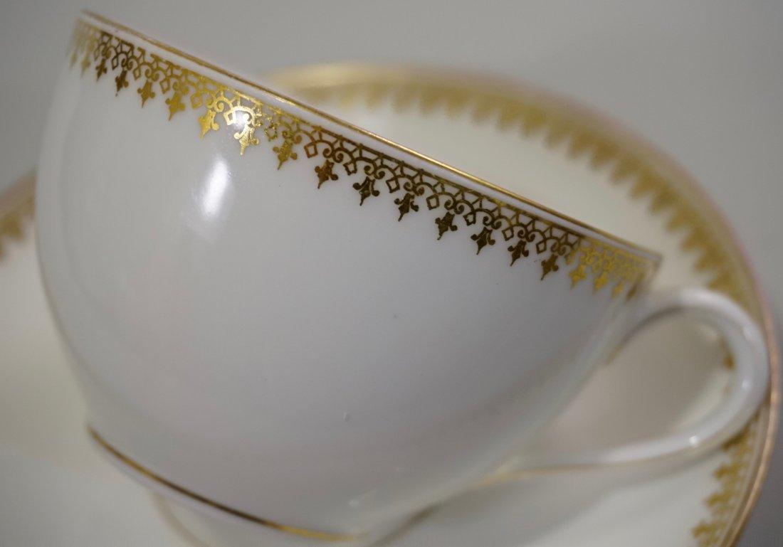TV Limoges Porcelain France Tea Cup Saucer Set Lot of 6 - 4