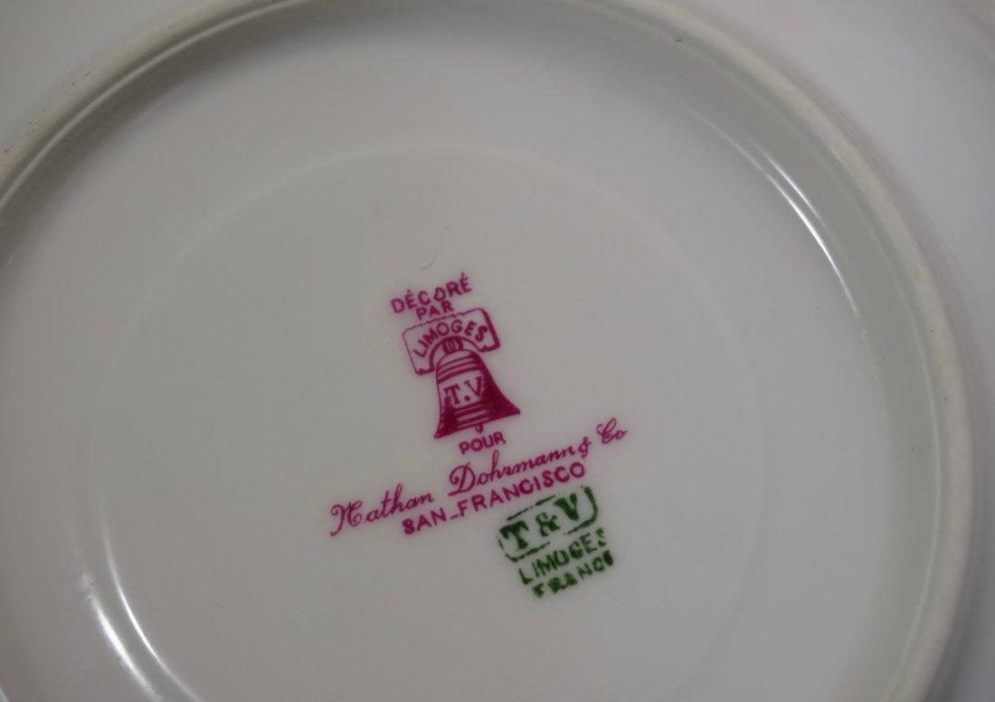 TV Limoges Porcelain France Tea Cup Saucer Set Lot of 6 - 7