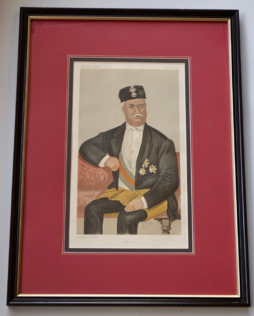 Vanity Fair Portrait Print Sultan of Johor Sir Abu