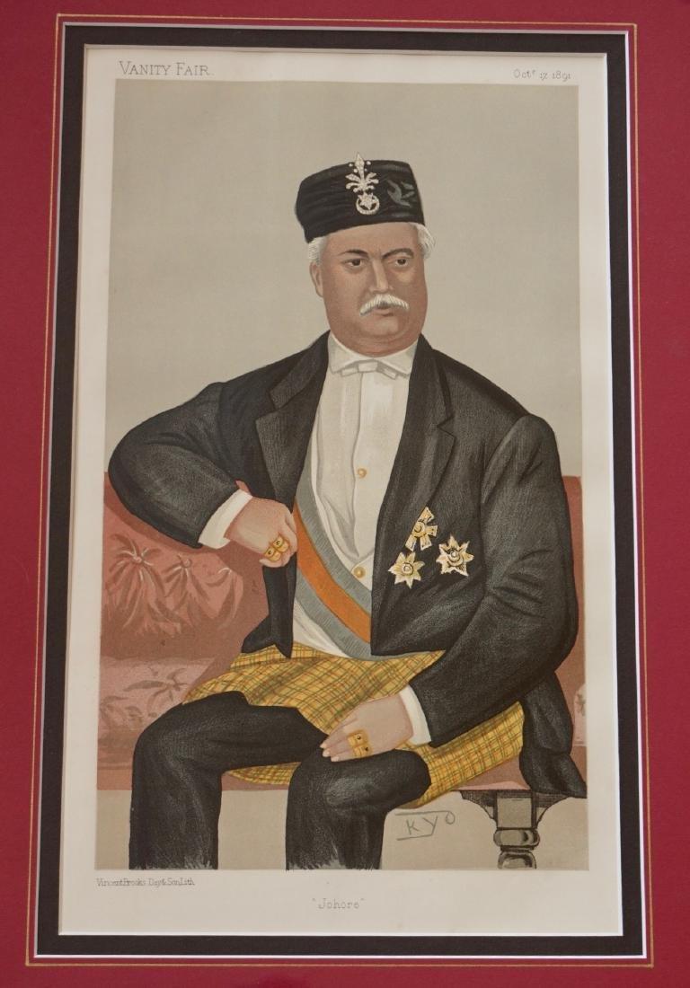 Vanity Fair Portrait Print Sultan of Johor Sir Abu - 2