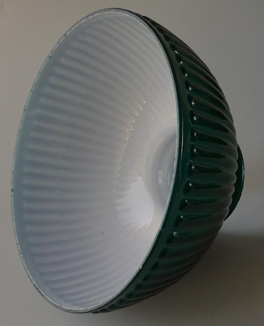 Antique New Juno Kerosene Lamp Electrified Green Cased - 6