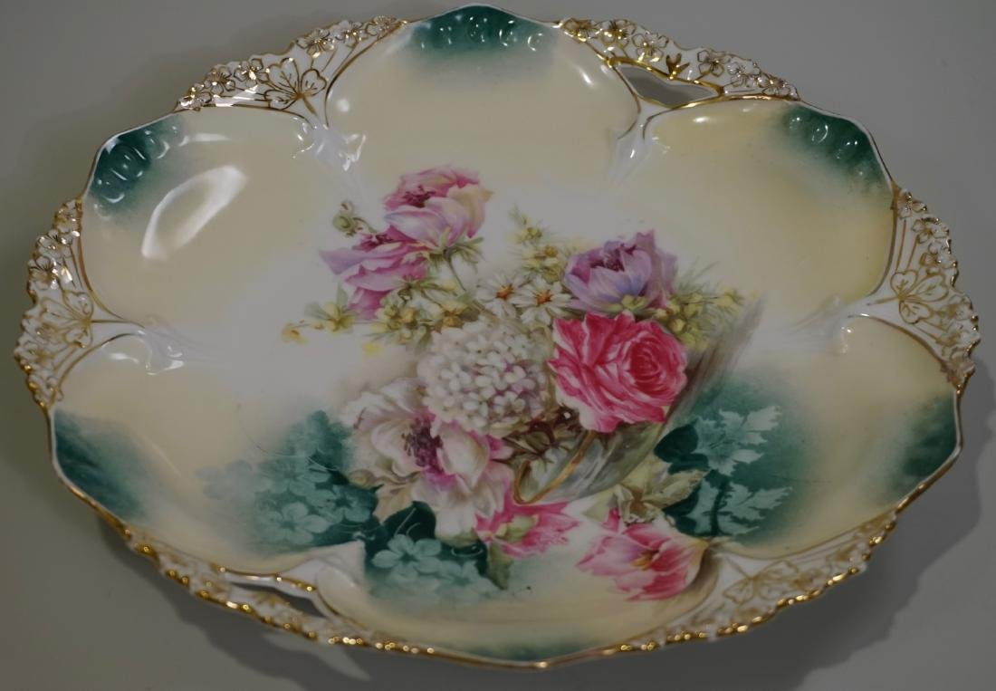 Antique RS Prussia Cake Platter 82 Mold - 2