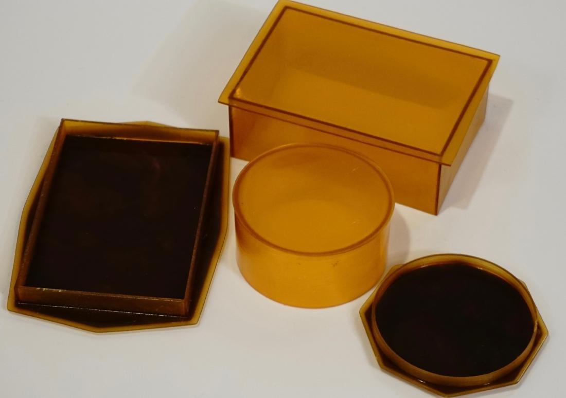 Celluloid Vanity Trinket Boxes Art Deco Period - 5
