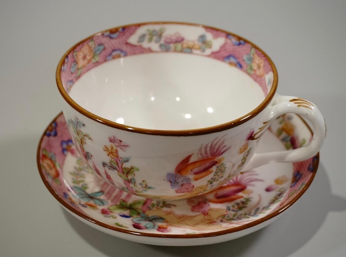 Cauldon England Antique Phoenix Bird Tea Cup Saucer Set