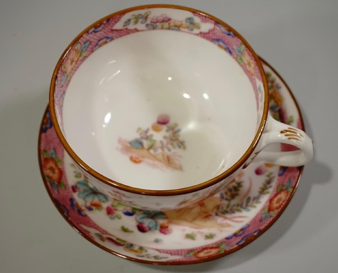 Cauldon England Antique Phoenix Bird Tea Cup Saucer Set - 3
