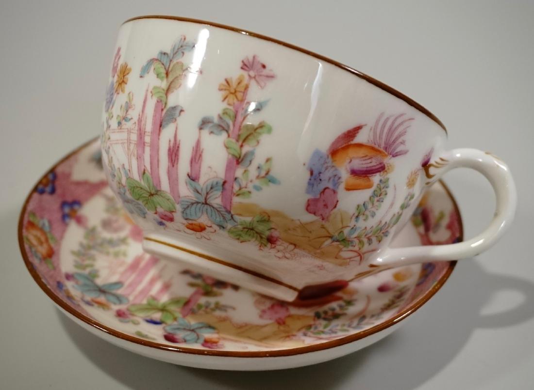 Cauldon England Antique Phoenix Bird Tea Cup Saucer Set - 4