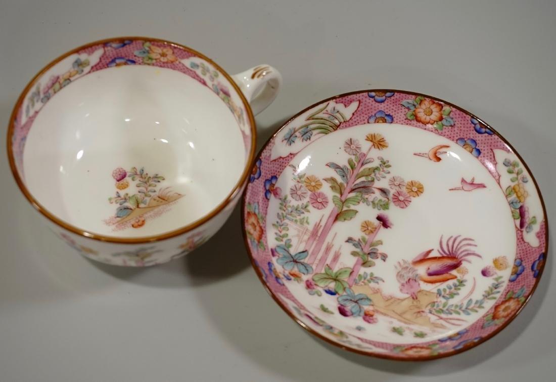 Cauldon England Antique Phoenix Bird Tea Cup Saucer Set - 5