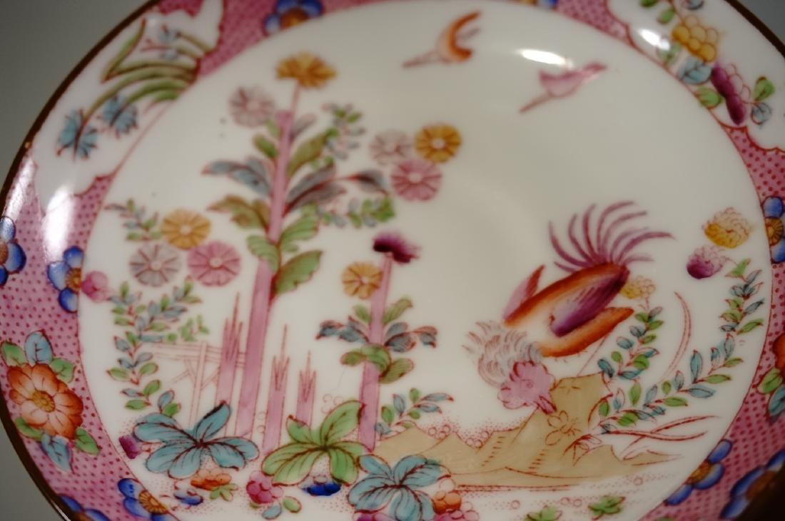 Cauldon England Antique Phoenix Bird Tea Cup Saucer Set - 6