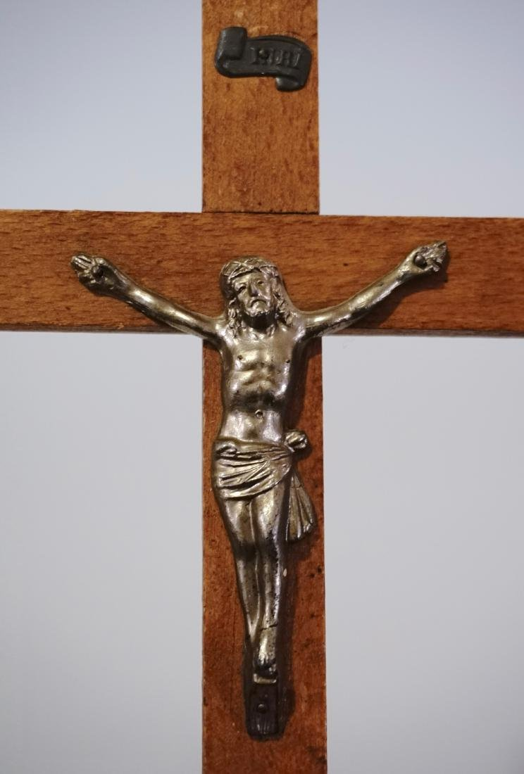 French Wall Cross Vintage Crucifix - 3