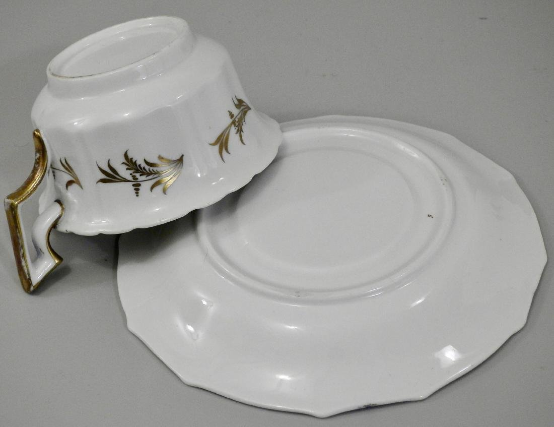 Antique Cobalt Gold English Tea Cup and Saucer - 3