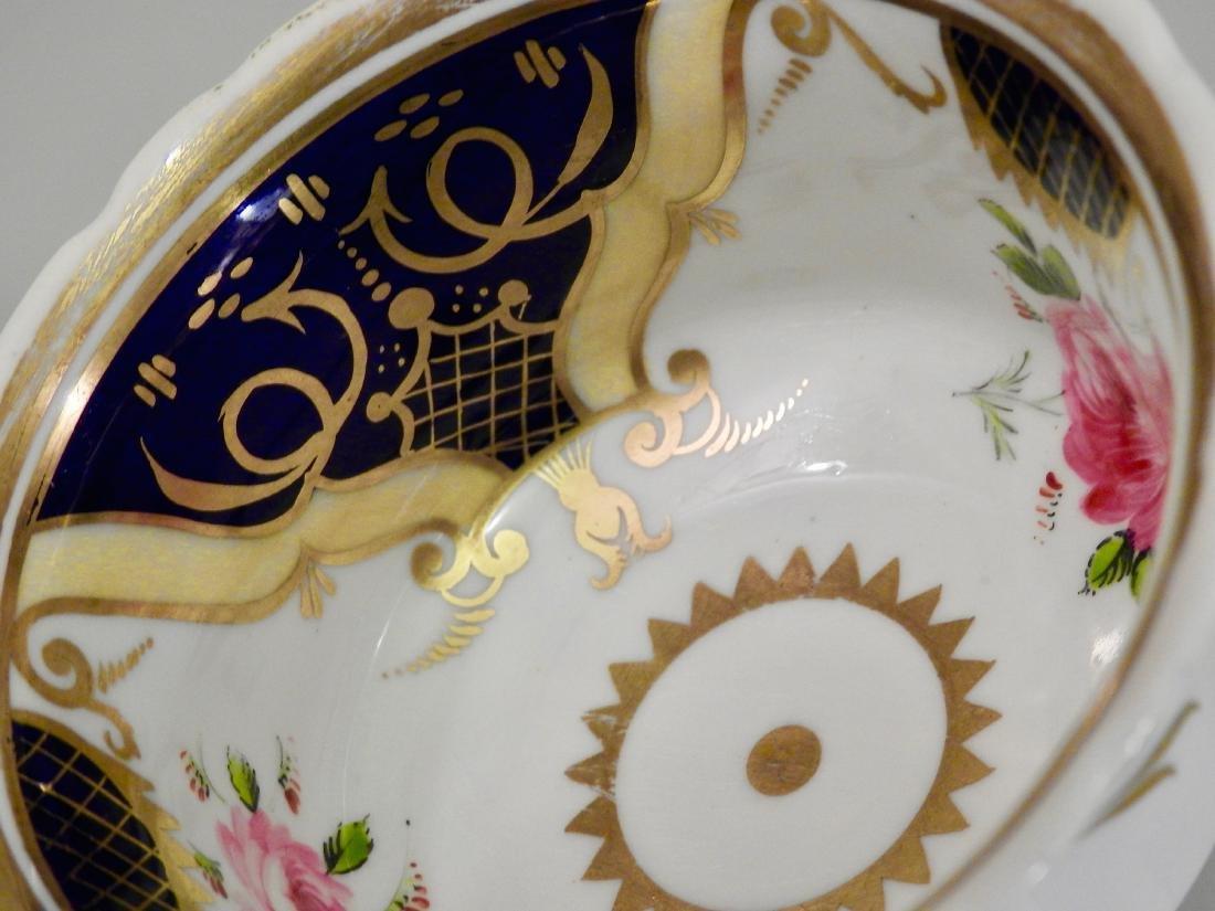 Antique Cobalt Gold English Tea Cup and Saucer - 4