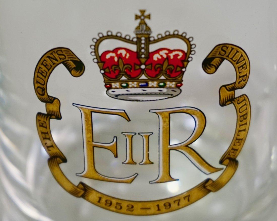 Queen Elizabeth II Silver Jubilee Clear Glass Mug
