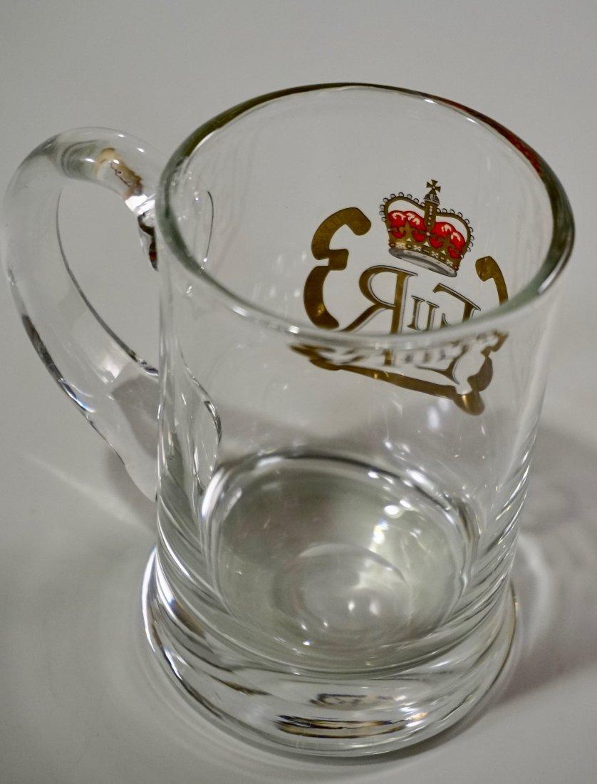 Queen Elizabeth II Silver Jubilee Clear Glass Mug - 3