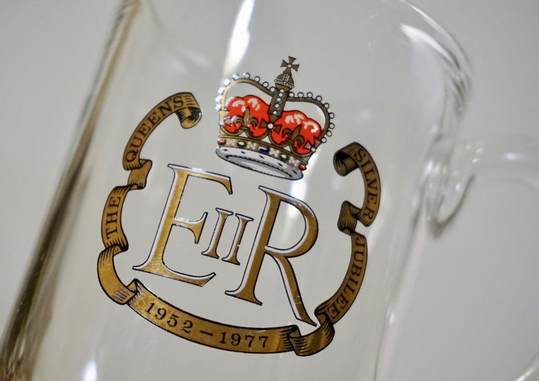 Queen Elizabeth II Silver Jubilee Clear Glass Mug - 4