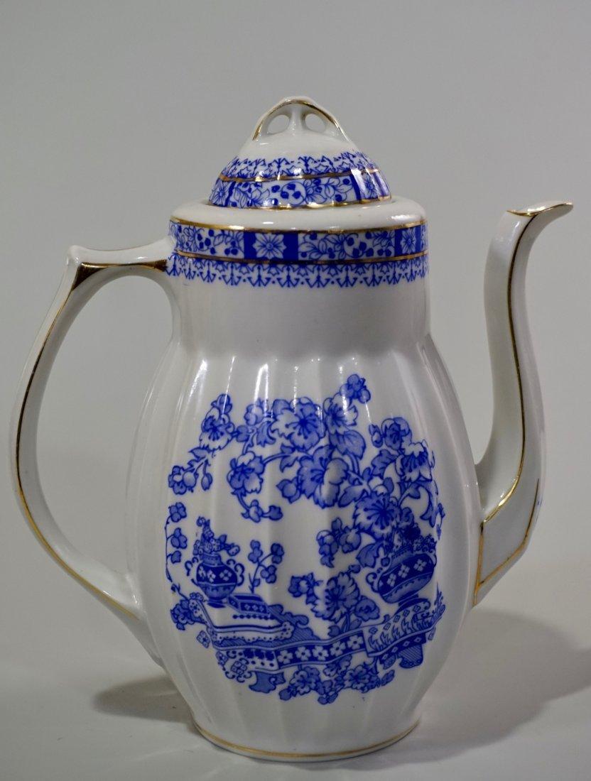 Vintage Blue Willow Porcelain Coffee Pot