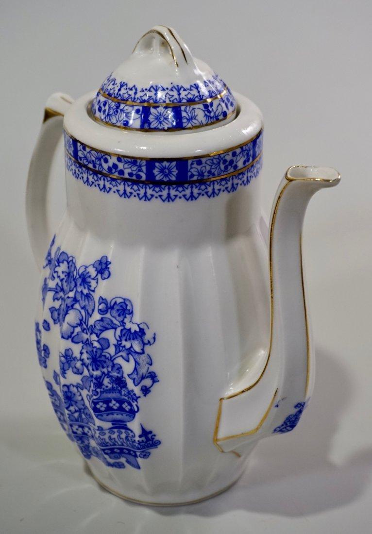 Vintage Blue Willow Porcelain Coffee Pot - 2