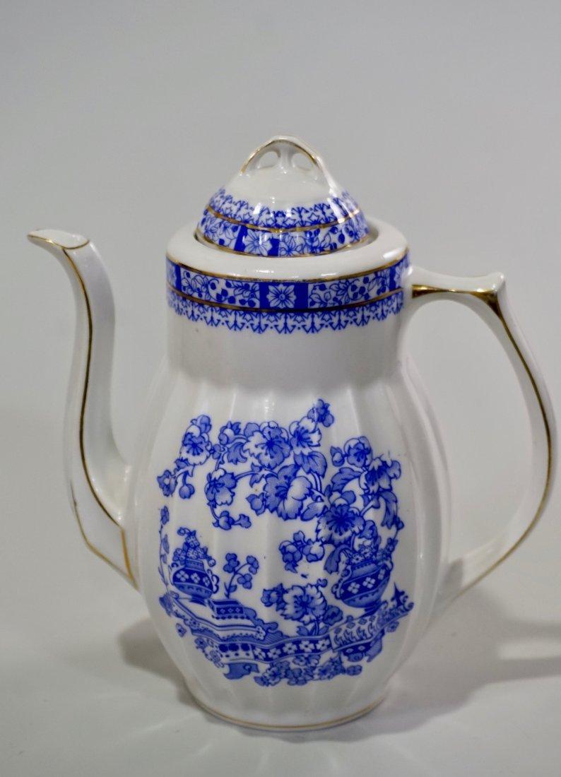 Vintage Blue Willow Porcelain Coffee Pot - 3