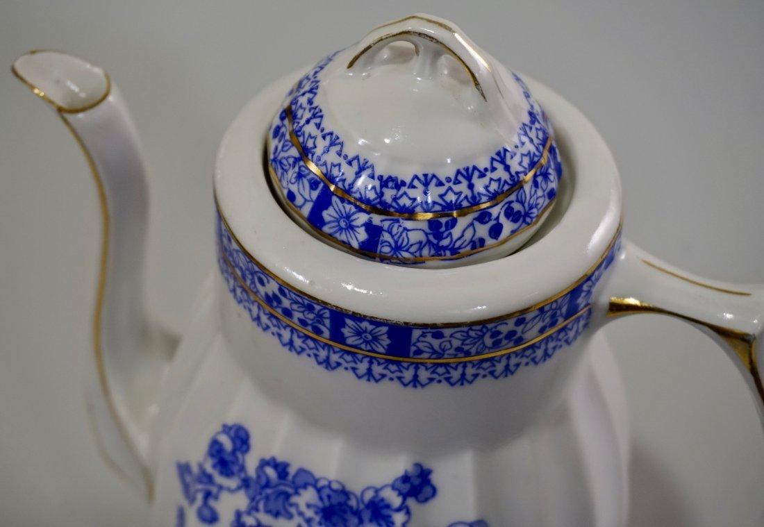 Vintage Blue Willow Porcelain Coffee Pot - 4