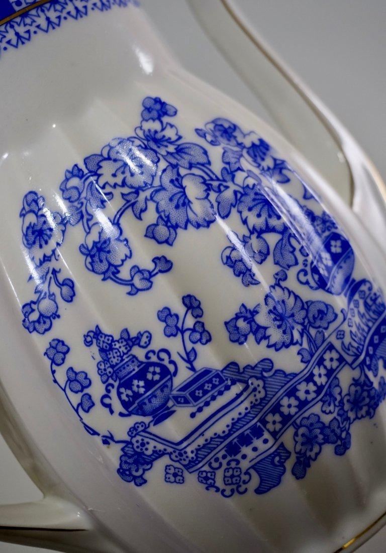 Vintage Blue Willow Porcelain Coffee Pot - 5