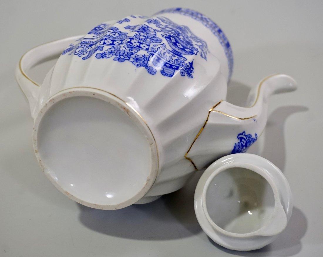 Vintage Blue Willow Porcelain Coffee Pot - 7