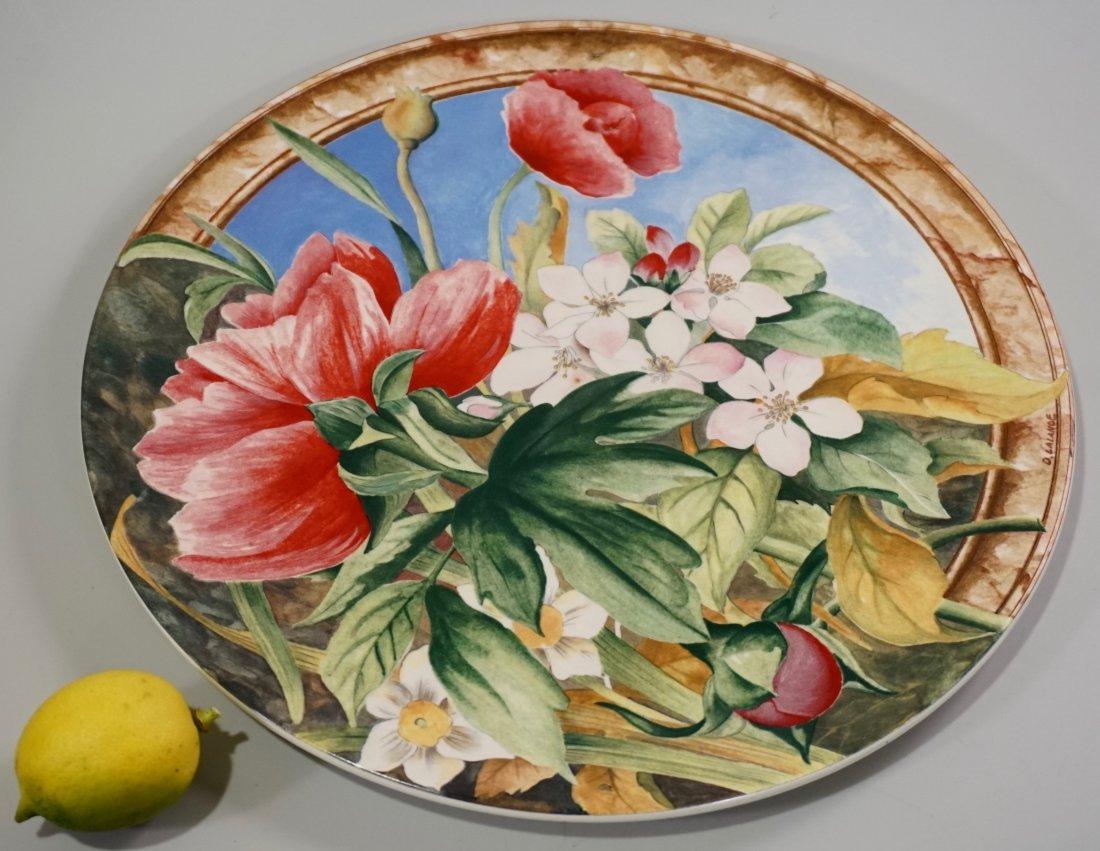 Gien Volupte French Cake Platter Country Garden Floral