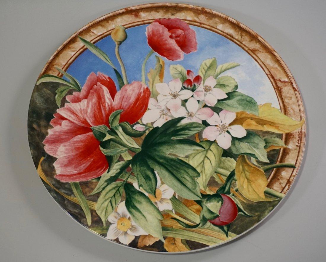 Gien Volupte French Cake Platter Country Garden Floral - 2