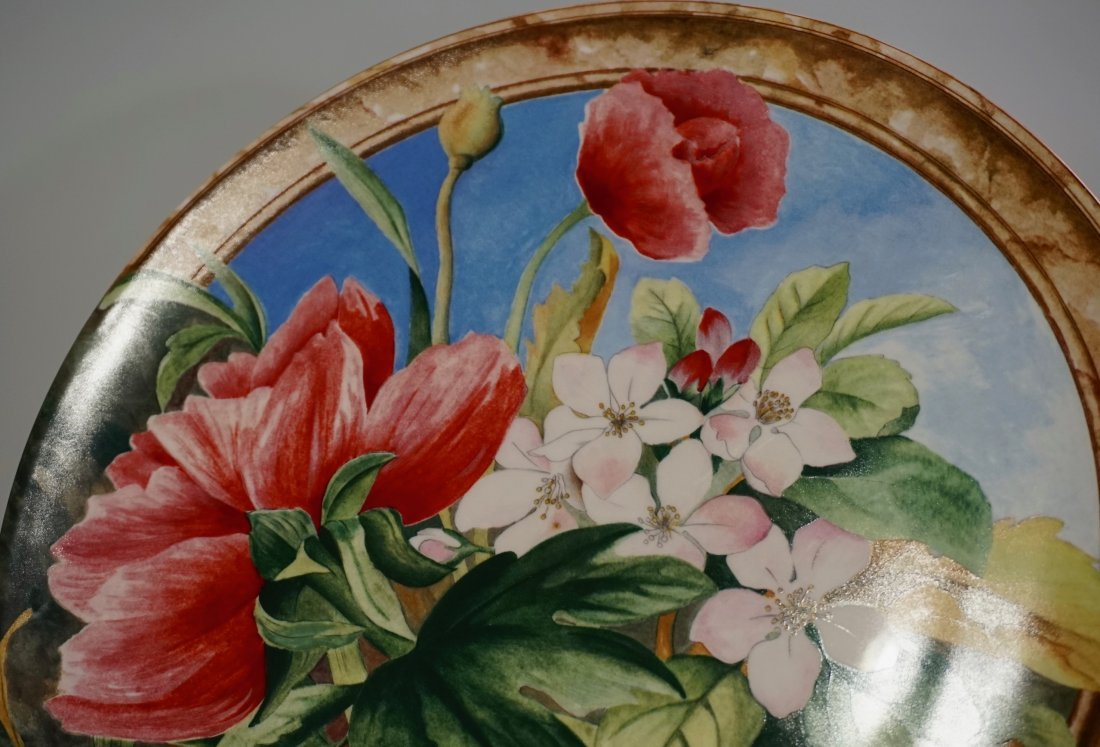 Gien Volupte French Cake Platter Country Garden Floral - 3