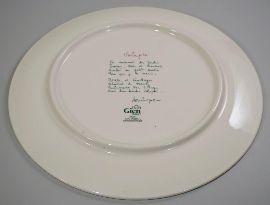 Gien Volupte French Cake Platter Country Garden Floral - 4