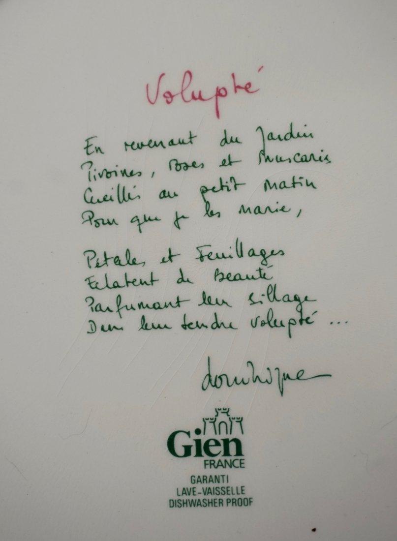 Gien Volupte French Cake Platter Country Garden Floral - 5