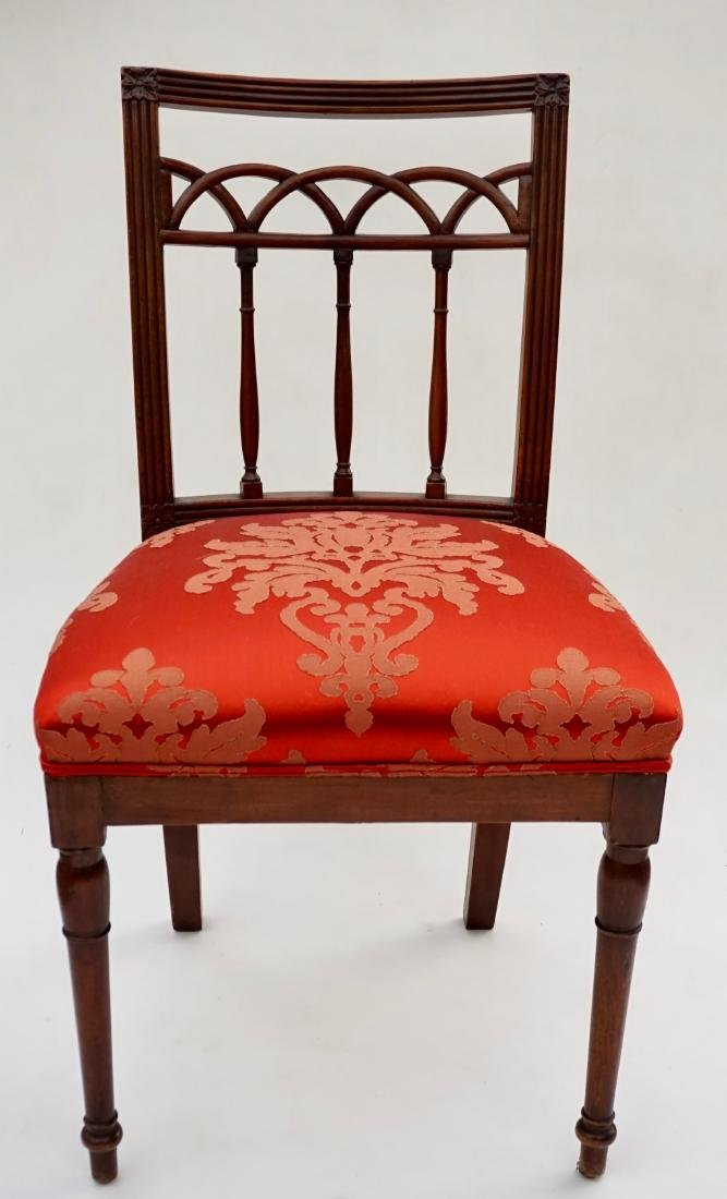Antique Upholstered Side Chair - 2