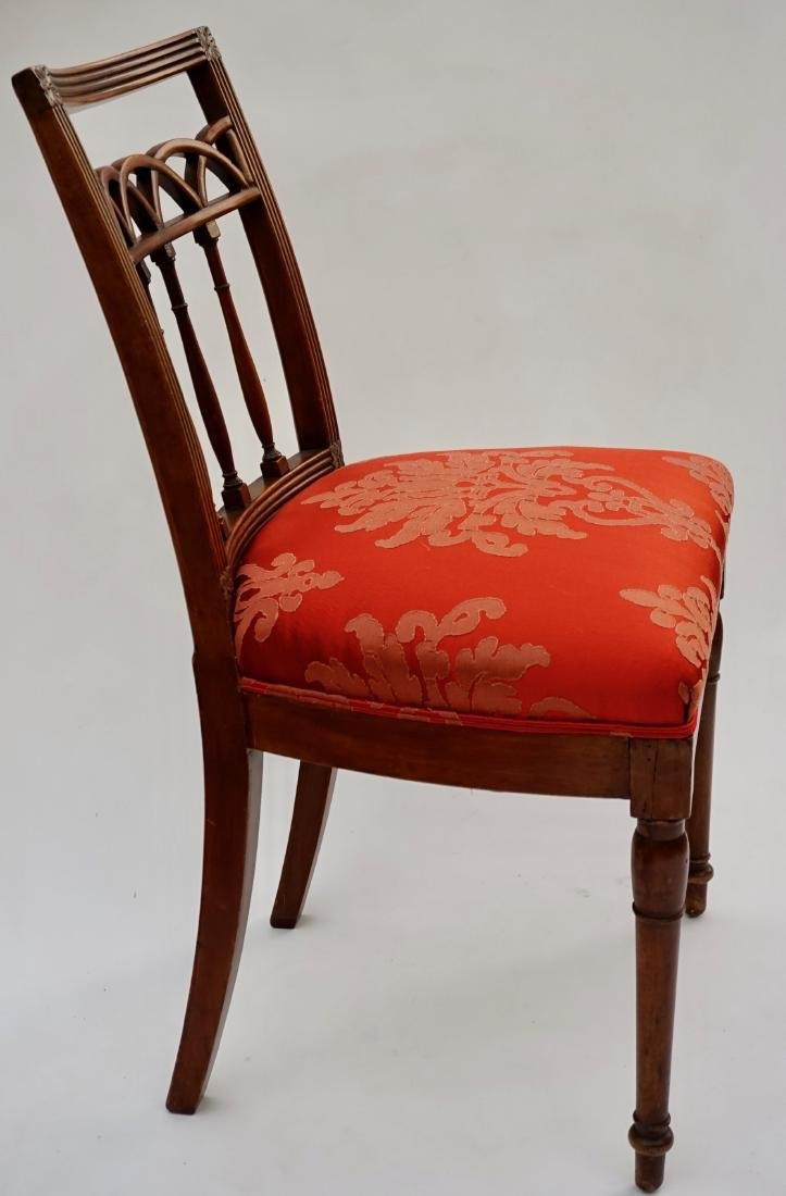 Antique Upholstered Side Chair - 3