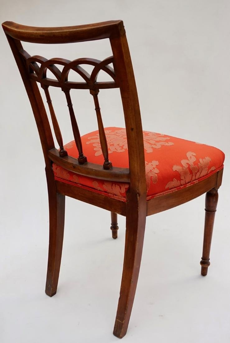 Antique Upholstered Side Chair - 4
