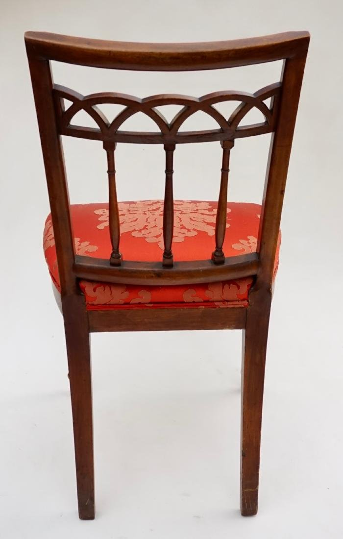 Antique Upholstered Side Chair - 5