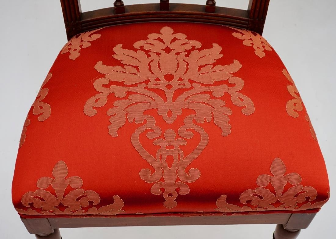 Antique Upholstered Side Chair - 7