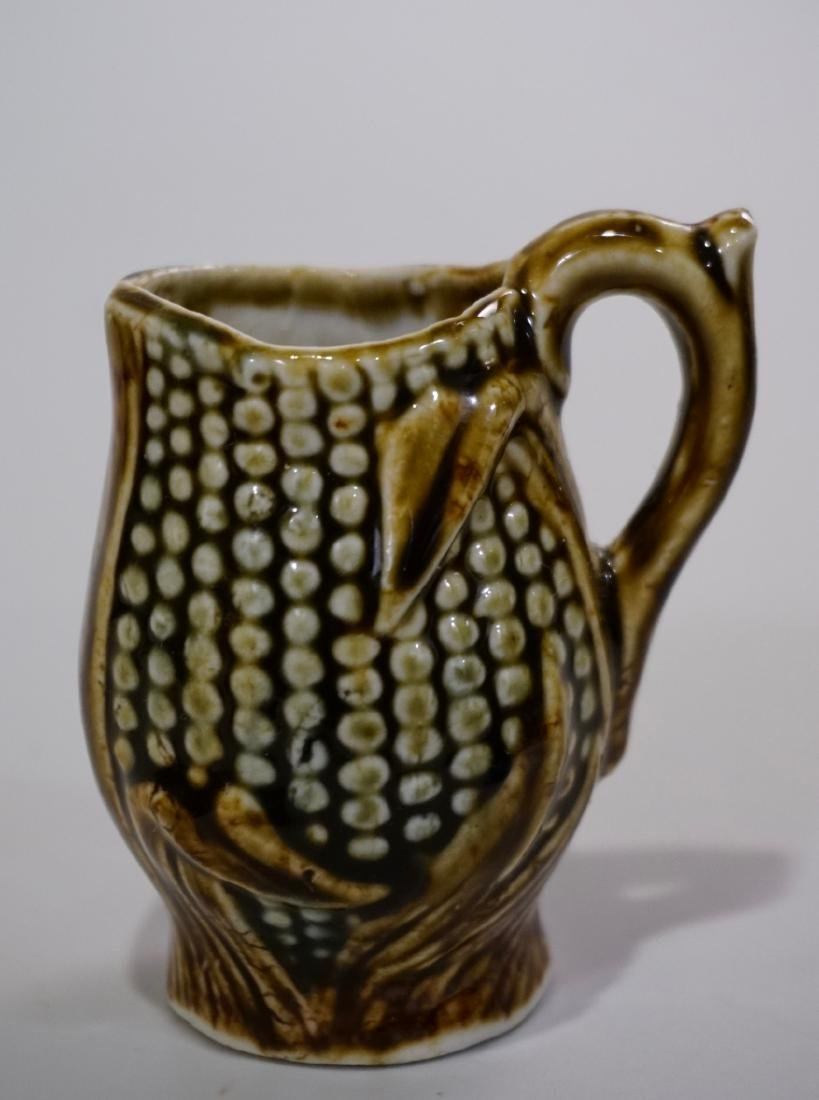 Miniature Bennington Pottery Corn Cob Shaped Pitcher - 3