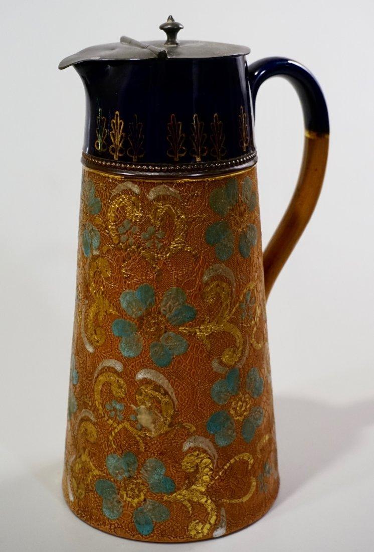 Royal Doulton Slater Patent Tapestry Jug Pitcher Pewter
