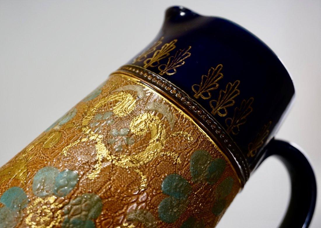 Royal Doulton Slater Patent Tapestry Jug Pitcher Pewter - 2