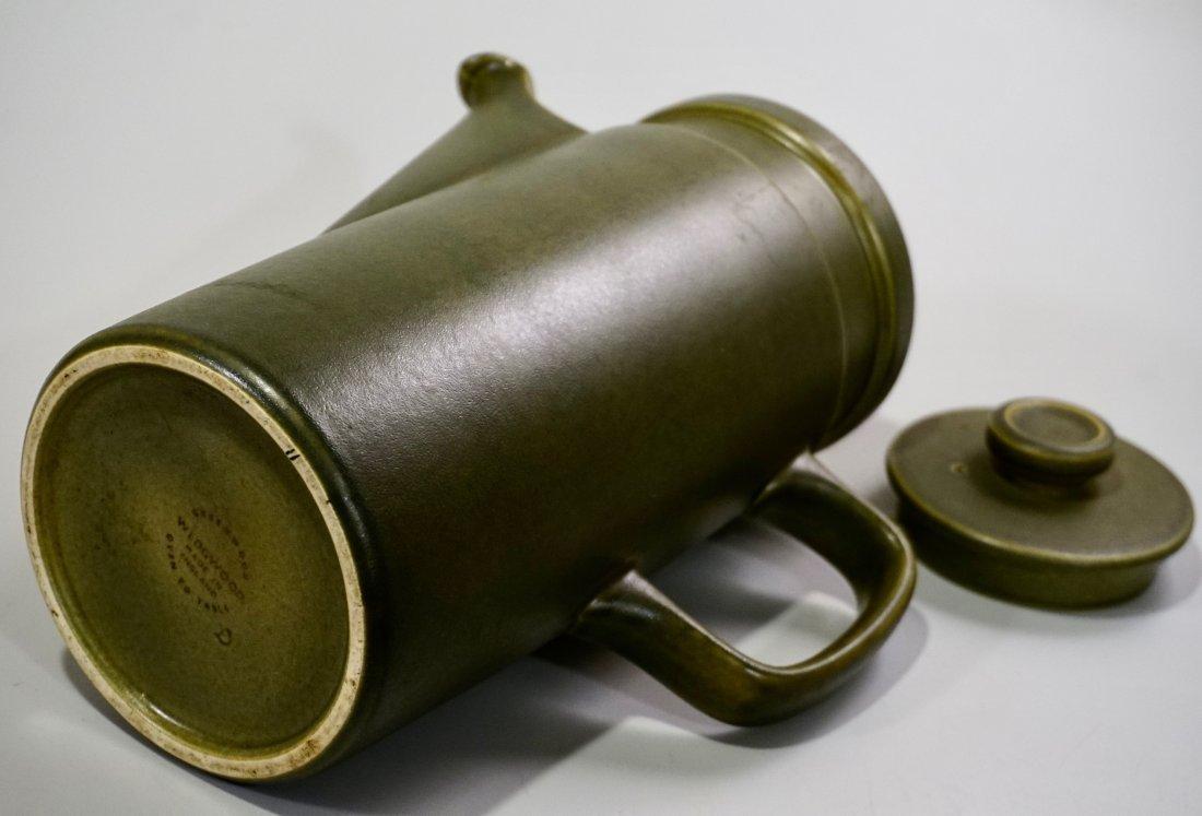 Wedgwood Greenwood Earthware Oven to Table Coffee Pot - 6