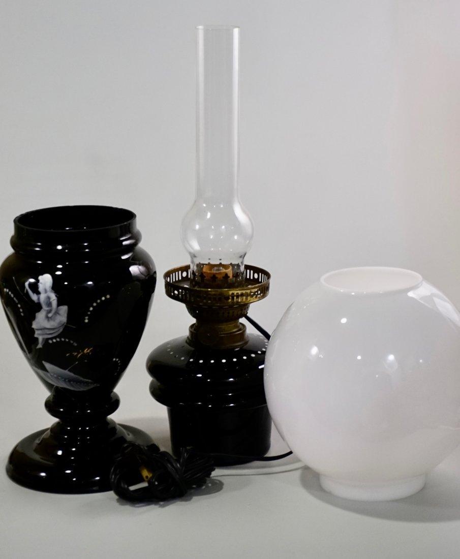 Victorian Mary Gregory Kerosene Lamp - 5