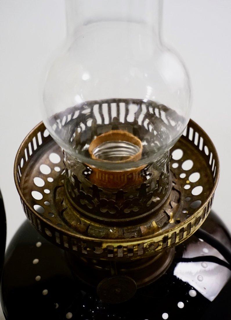 Victorian Mary Gregory Kerosene Lamp - 7