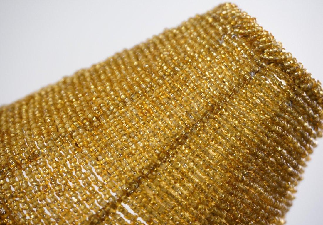 Amber Glass Beaded Lamp Shade Lot of 3 Shades - 3