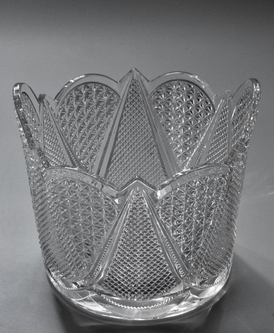 Vintage Pressed Glass Ice Bucket