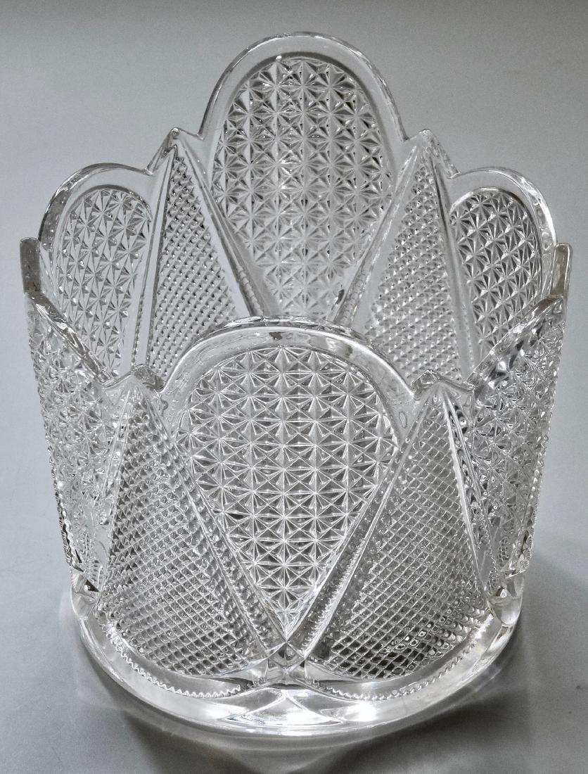 Vintage Pressed Glass Ice Bucket - 2