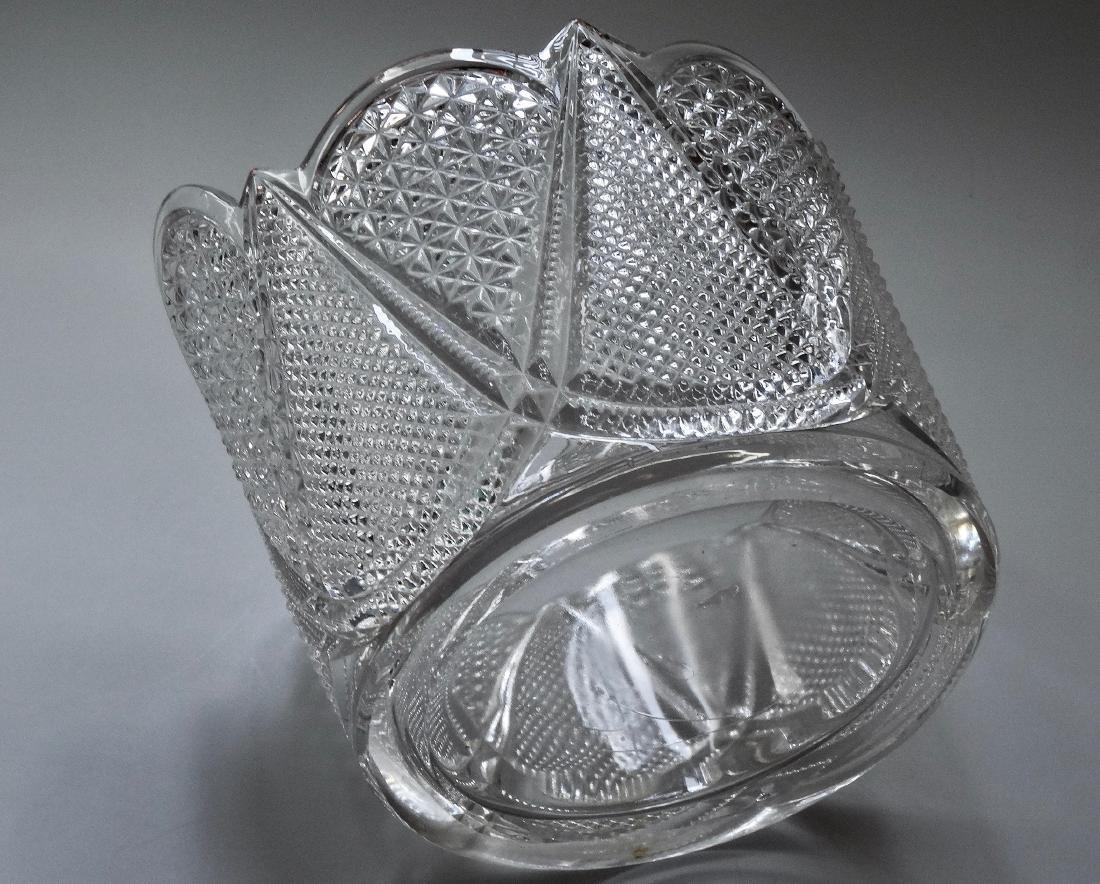 Vintage Pressed Glass Ice Bucket - 7